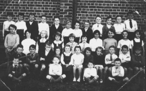 Class photo near church 1936
