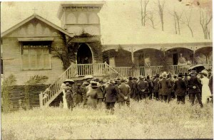 Bishop Carroll opening the new convent 1912