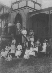Students on the steps of the convent 1912